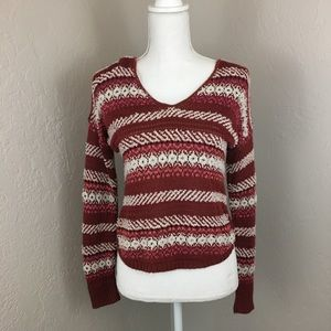 Absolutely creative high low sweater yarn knit euc